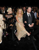 Lady Gaga made for an interesting trio with Blake Shelton and Miranda Lambert.