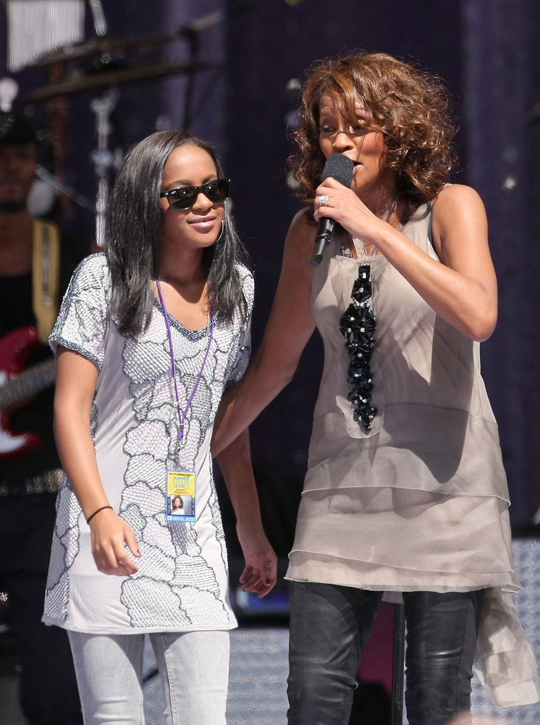 Whitney shared the stage with her daughter Bobbi Kristina in 2009.