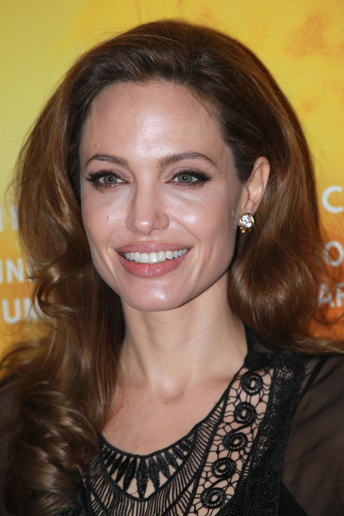 Angelina smiled for the cameras at the premier of The Lady.