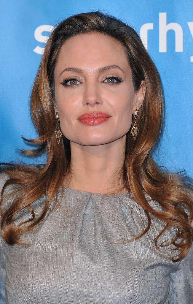 Angelina Jolie posed at the Cinema for Peace gala in Germany.