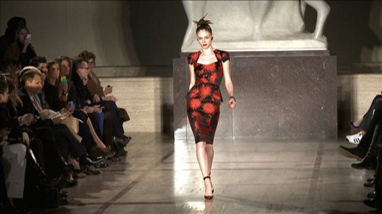 Watch Zac Posen's Body-Conscious Fall 2012 Collection Featuring Coco Rocha