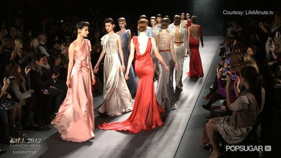 Watch Old Hollywood Glamour Take Over on Jenny Packham's Fall 2012 Runway