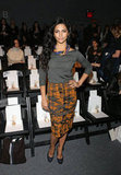 Camilla Alves looked tribal chic at Lela Rose.