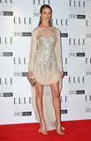 Rosie Huntington-Whiteley looked angelic in ethereal Antonio Berardi.