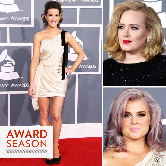 Kate Beckinsale, Kelly Osbourne, Adele Grammy's Fashion and Beauty