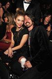 Dave Grohl of the Foo Fighters gets cozy with his wife Jordyn Blum.