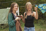 Kathryn Hahn and Jennifer Aniston in Wanderlust.
