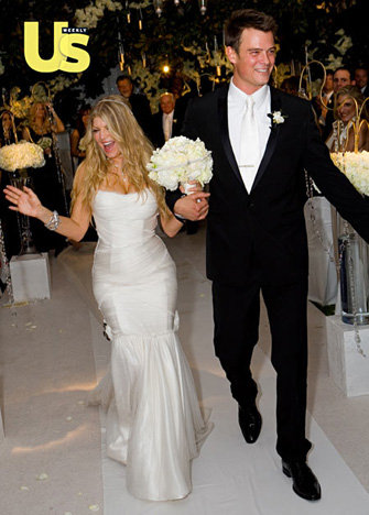 For her January 2009 LA wedding to Josh Duhamel, Fergie showed off her figure in a custom-made gown by Dolce & Gabbana.