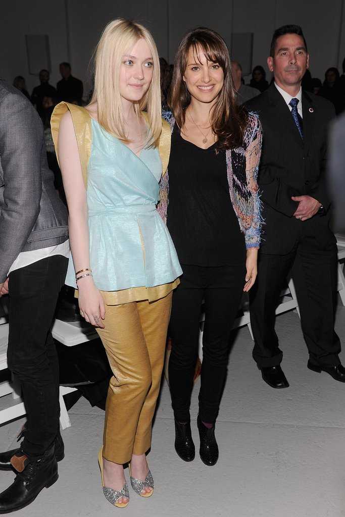 Natalie Portman and Dakota Fanning posed at Rodarte.