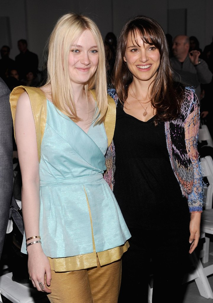 Dakota Fanning and Natalie Portman at Rodarte.