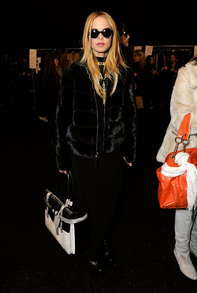 Rachel Zoe sported shades to Derek Lam.