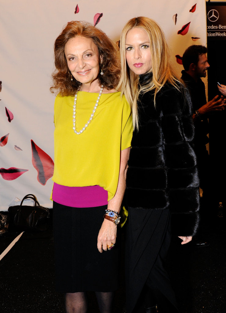 Rachel Zoe posed with Diane von Furstenberg.