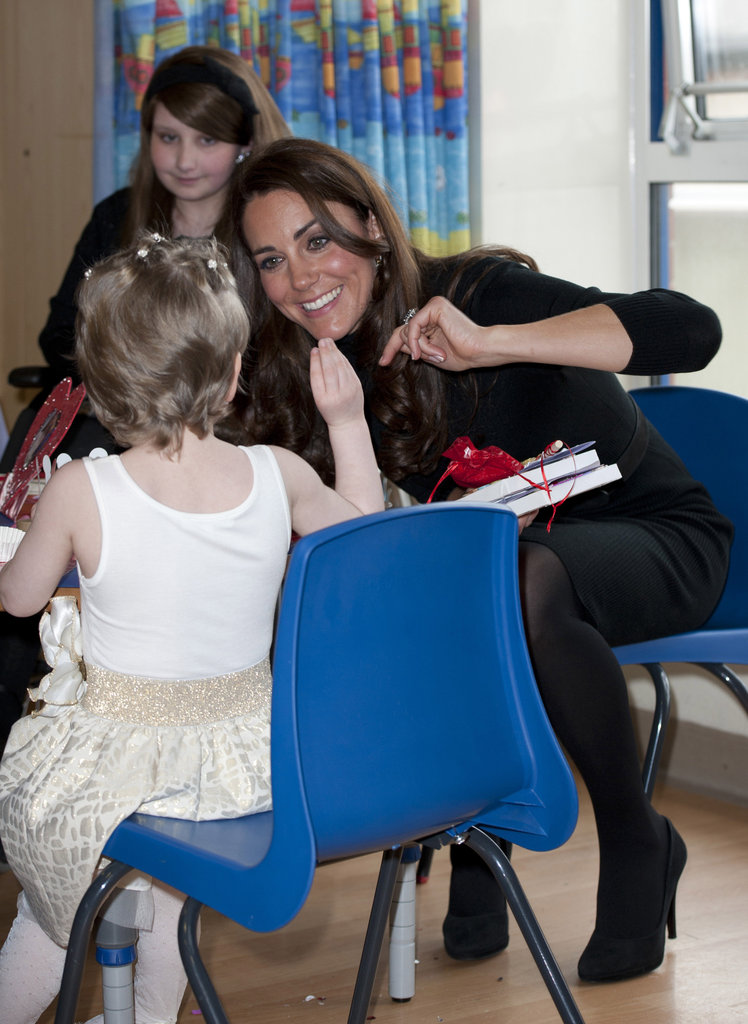 Kate Middleton played games.