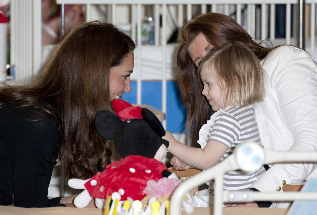 Kate Middleton visited with a patient.