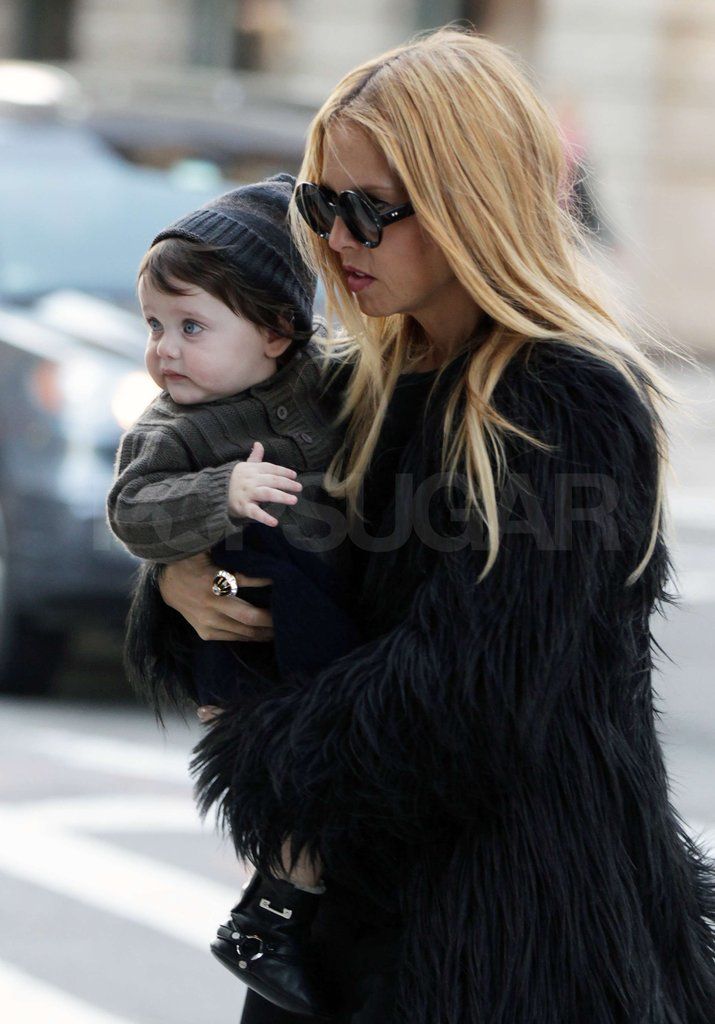 Rachel Zoe bundled Skyler Berman up in a knit cap.