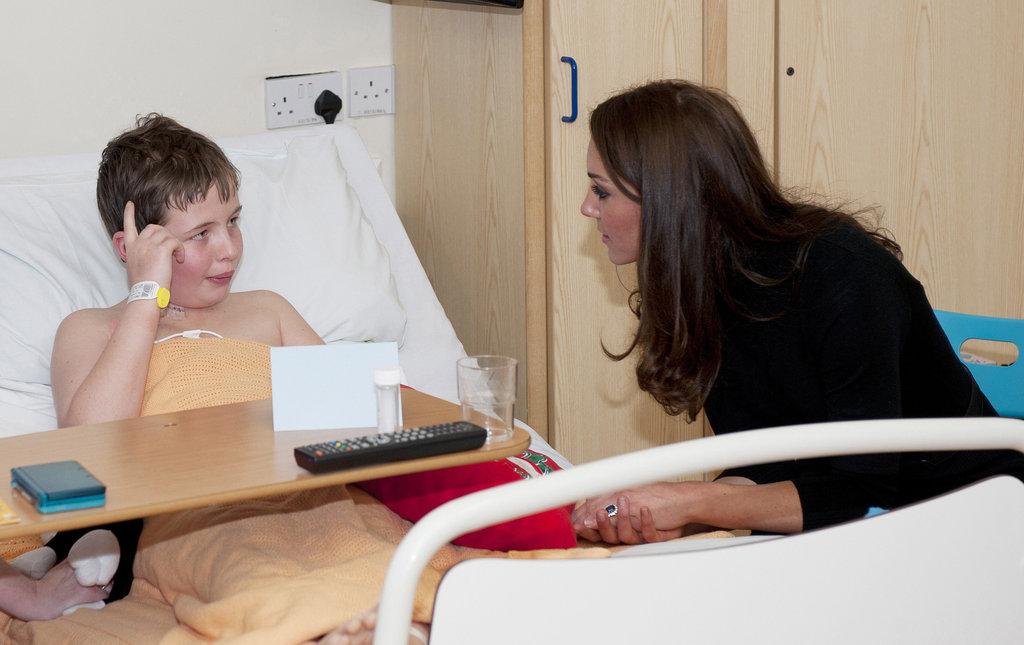 Kate Middleton visited a children's hospital.