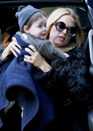 Rachel Zoe carried her son Skyler Berman.