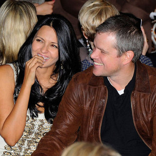 Matt Damon mit Luciana am Valentinstag auf der Fashion Week