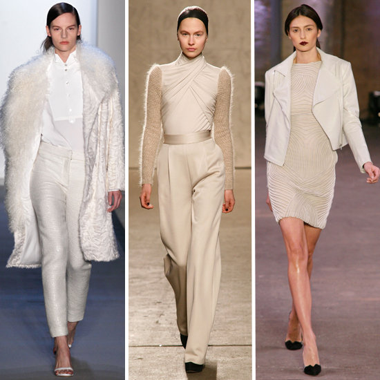 Designers Show Beautiful Winter White Ensembles at New York Fashion Week