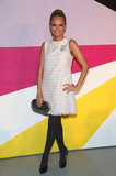 Kristin Chenoweth struck a pose in a pretty LWD at Alice + Olivia's Fall presentation.