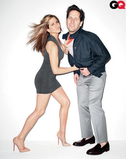 Jennifer Aniston and Paul Rudd do GQ-february 2012