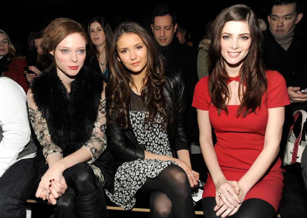 Coco Rocha, Nina Dobrev and Ashley Greene at DKNY Women's
