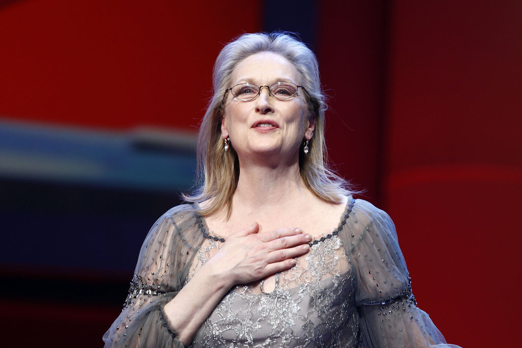 Meryl took the stage modeling her bifocals.