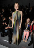 Kristin Cavallari showed off a pretty halter maxi at Denis Basso.