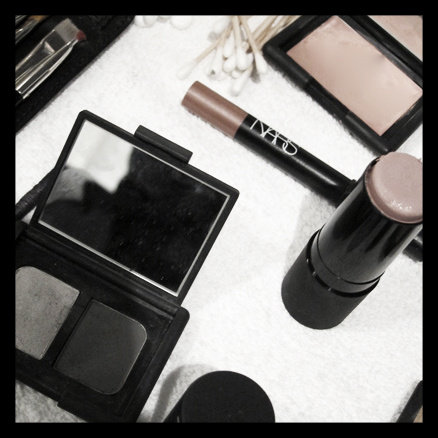 Backstage at Honor. New Nars multiple at right.