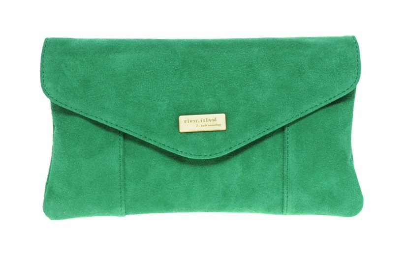 River Island suede envelope clutch ($48)
