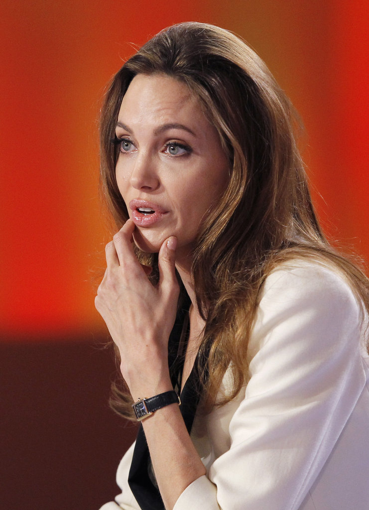 Angelina shared a story of her emotional Bosnian premiere.