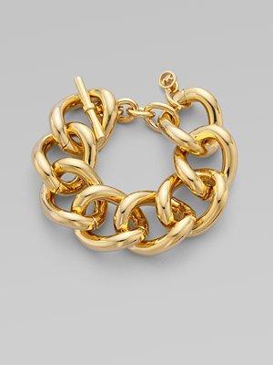 Michael Kors - Goldtone Chain Link Bracelet ($125)