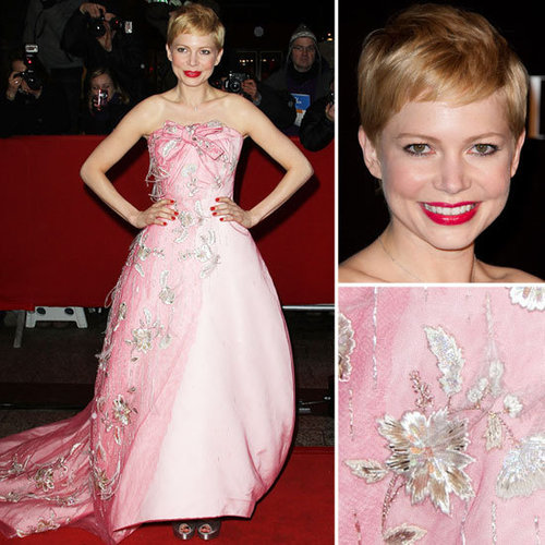 Michelle Williams im Pinken Dior zur Premiere von My Week With Marilyn