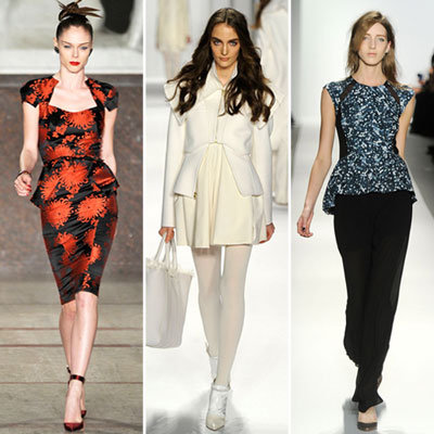 Fall 2012 Runway Trends: Peplum