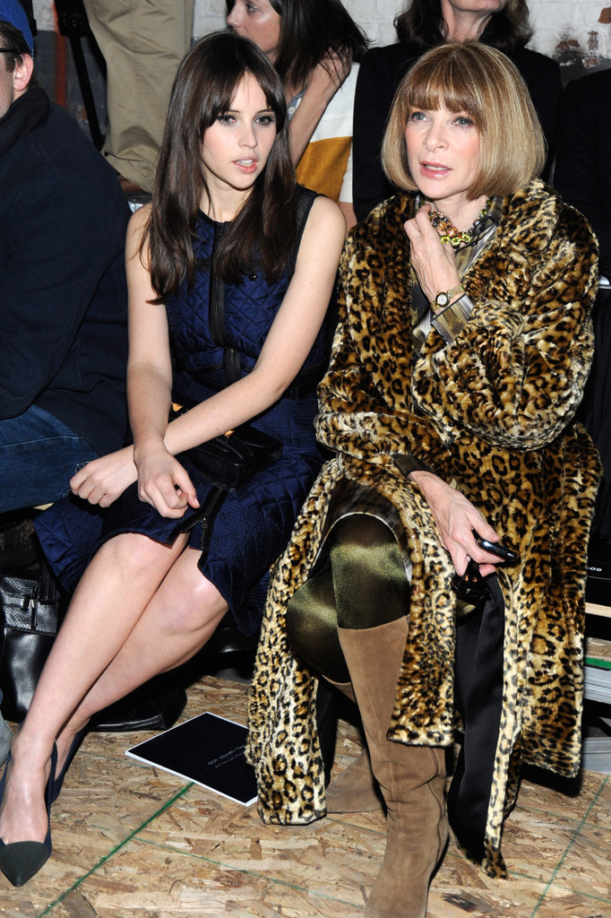 Felicity Jones and Anna Wintour at Proenza Schouler