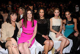 Angelica Huston, Debra Messing, Paula Patton, Amber Heard and Jessica Alba at Michael Kors