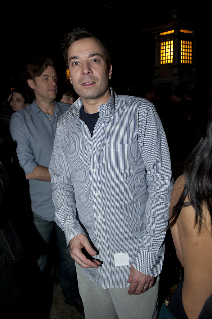 Jimmy Fallon at the NYFW Guns N' Roses show.