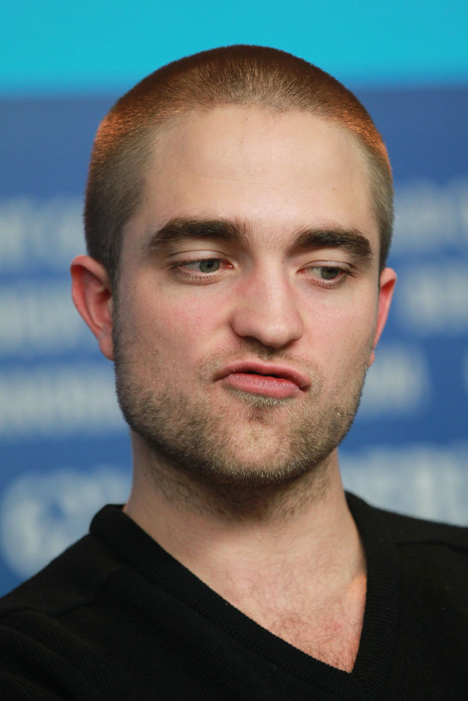 Rob makes a face during the Bel Ami Press Conference.
