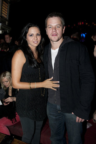 Matt Damon and Luciana Damon had a late night in NYC.