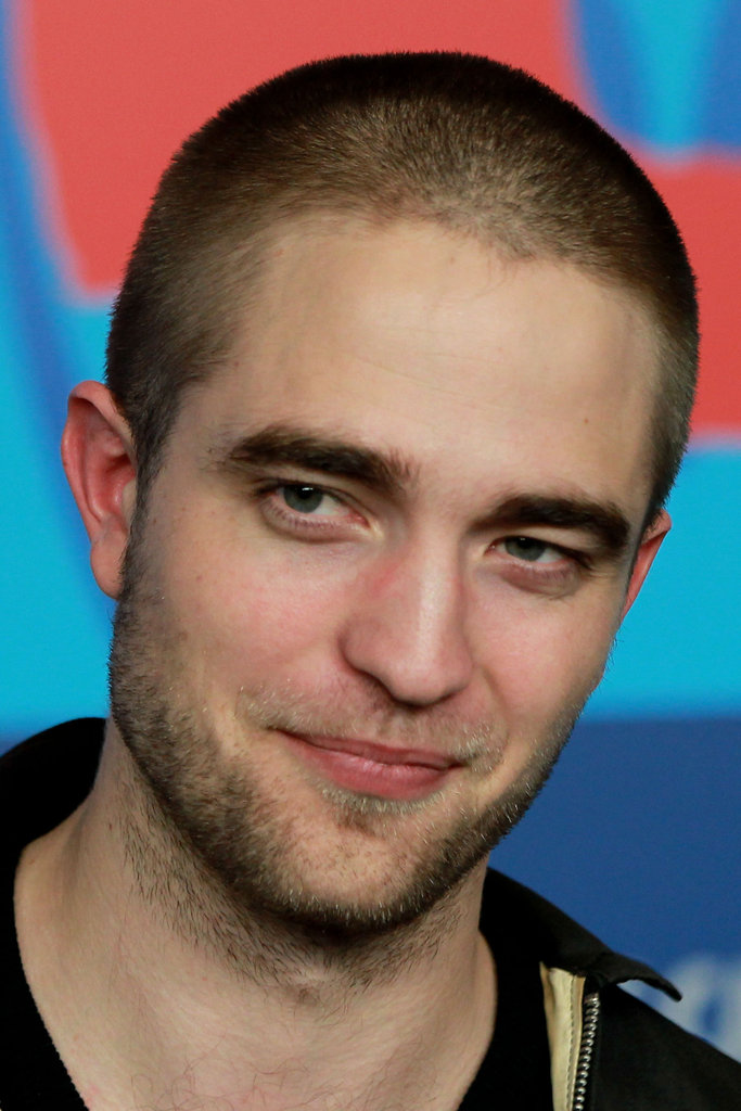 Robert Pattinson coyly smiled.