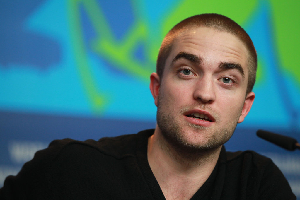 Rob raised his eyebrows during the early morning press conference.