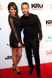 Chrissy and John posed on the red carpet.