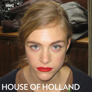 House of Holland 2012 Beauty: Hair, Makeup, and Nails