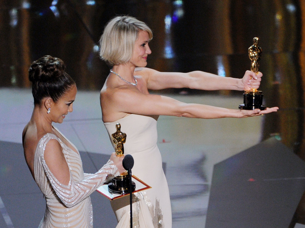 Jennifer Lopez and Cameron Diaz presented an award together.