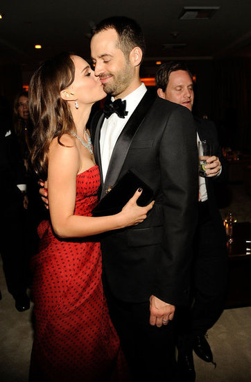 Natalie Portman and Benjamin Share Cute Kisses at Vanity Fair's Oscar Party Amid Marriage Rumours