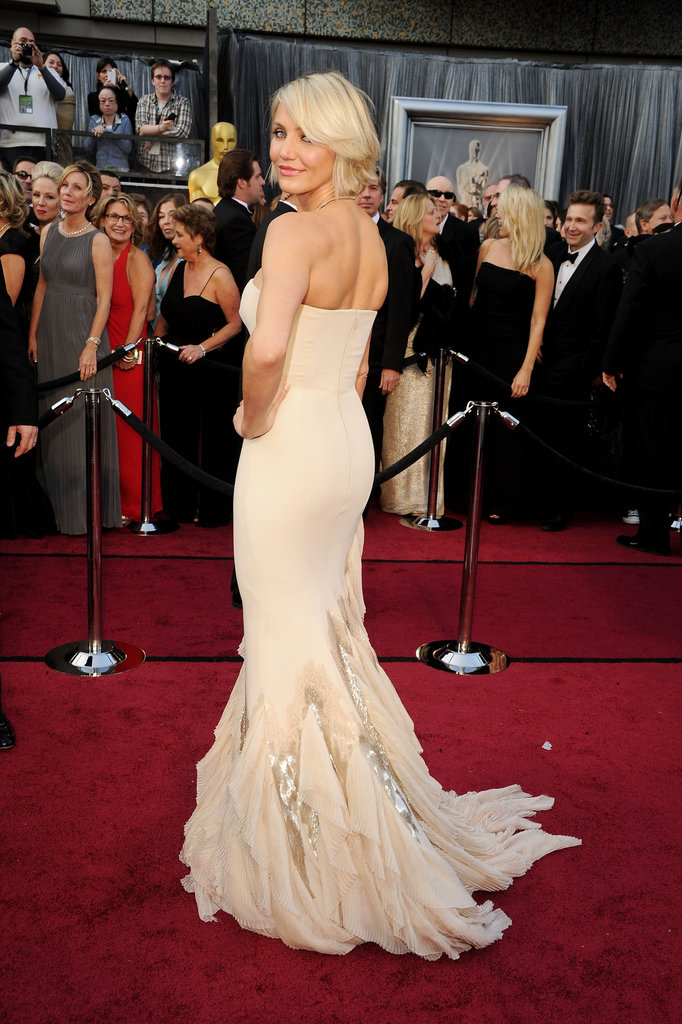 Cameron Diaz wore Gucci to the Oscars.