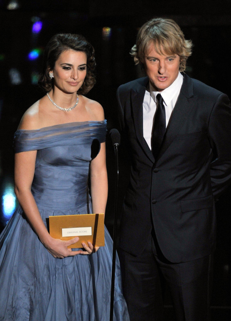 Penelope Cruz and Owen Wilson shared the stage at the 2012 Oscars.