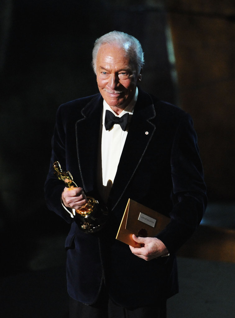 Christopher Plummer accepted his award.