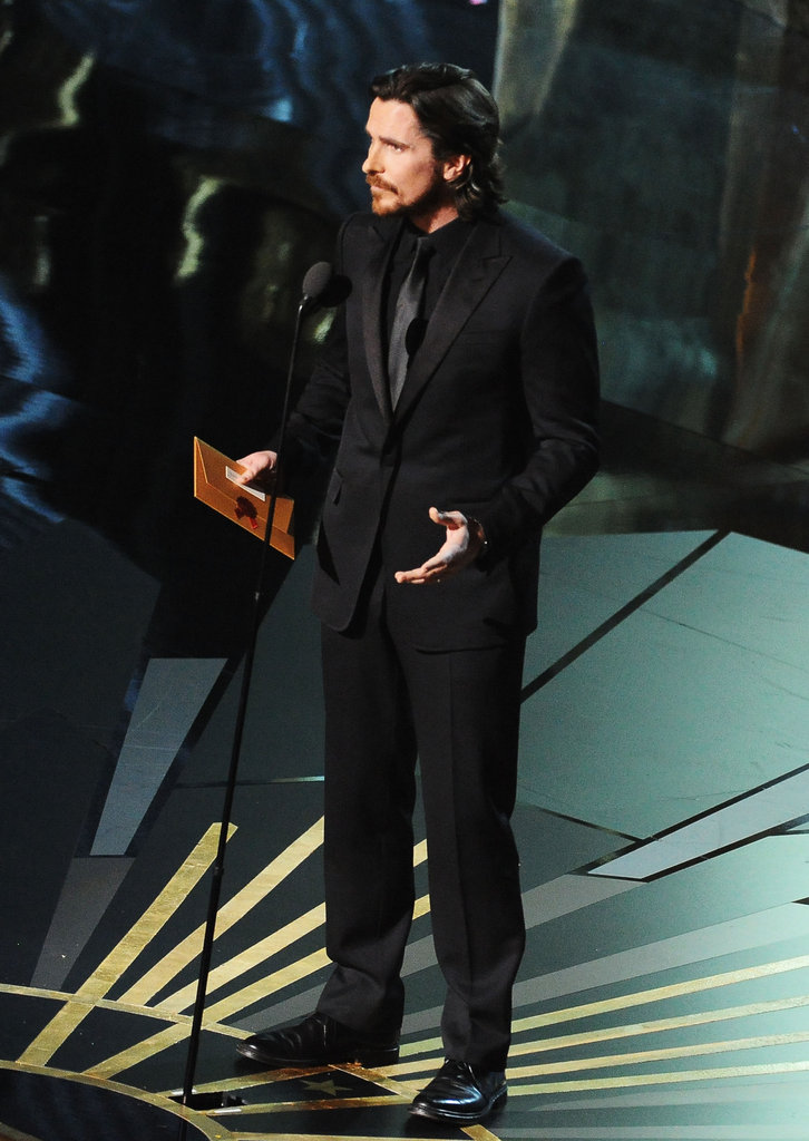 Christian Bale presented the best supporting actress award.