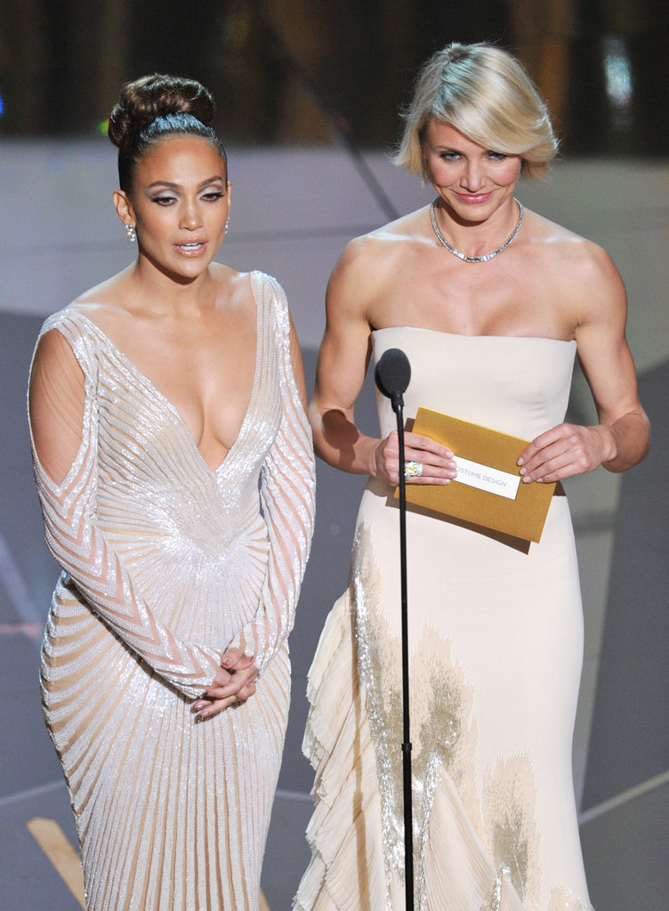 Jennifer Lopez and Cameron Diaz wore coordinating gowns.
